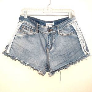 OTHERS FOLLOW womens cut off shorts size 29 blue